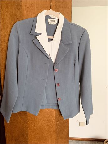 Polyester mini skirt suit size 9
