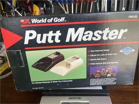 VTG JEF World Of Golf Putt Master Automatic Ball Return Putting Aid PM150 Black