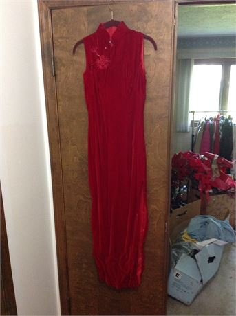 Vintage pink gown size 8