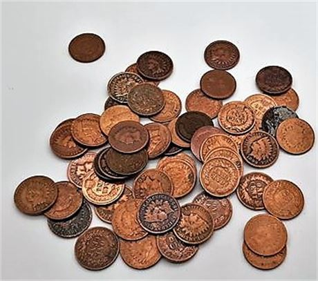50 Unsearched Indian Pennies From An Old Time Hoard
