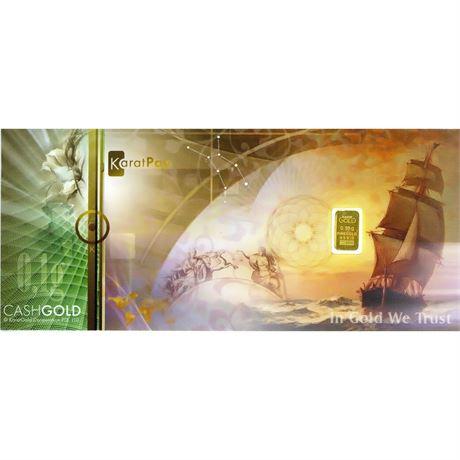 1/10 Gram Gold Cash Karat Pay Gold Bullion Bar BU .1 g 9999 Fine Gold Note