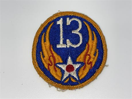 WW2 US Army Air Force 13th Army Air Force Patch