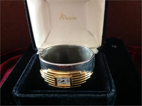 Woman's watch silver and gold