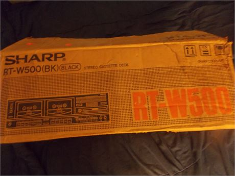 Vintage 1980's Sharp RT-W500 Stereo Cassette Deck with original box