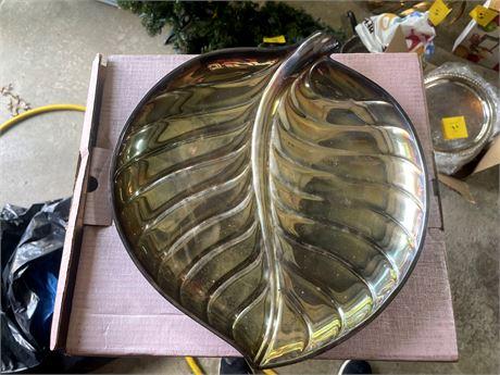 """Leaf Decorative Leaf Platter by """"Made"""""""