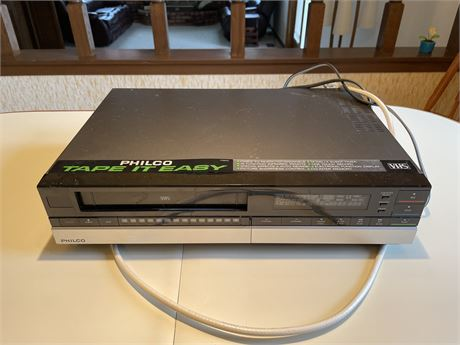 Philco VHS Player, Not Tested