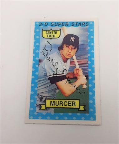 Bobby Ray Murcer New York Yankees #22 3D Super Star Signed Baseball Card