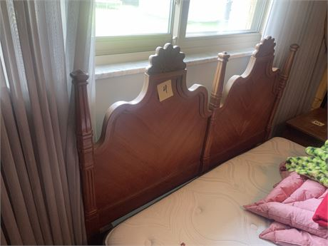 American of Martinsville Full size headboard with Mattress and Box Springs