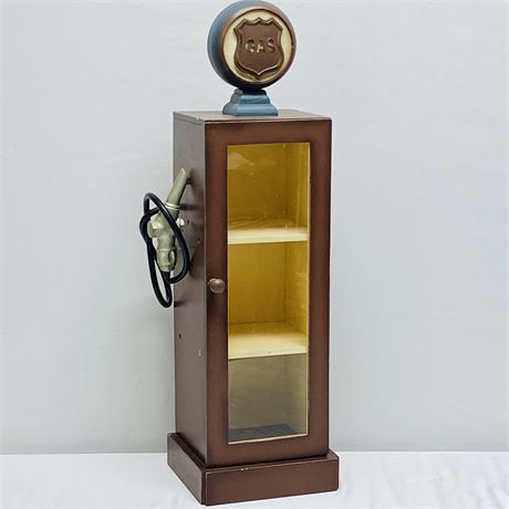 Light Up Gas Pump Collectibles Display Case