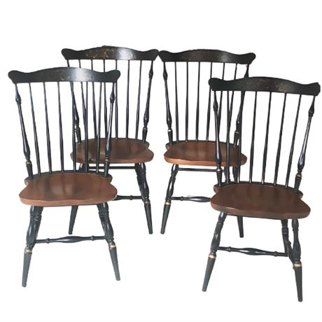 Hitchcock Chair Co. Set 4 Side Chairs