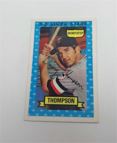 Danny Thompson Minnesota Twins #35 3D Super Star Signed Baseball Card