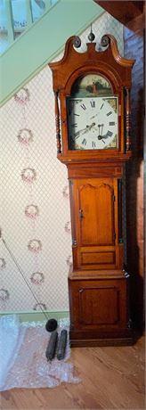 19th C. English 8 Day Tall Case Clock