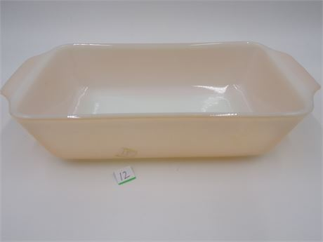 Vintage Fire King  Peach Colored Baking Dish