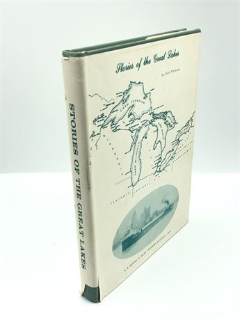 Signed 1963 Stories of the Great Lakes 1st Edition Ship Photo Book Earl Parson