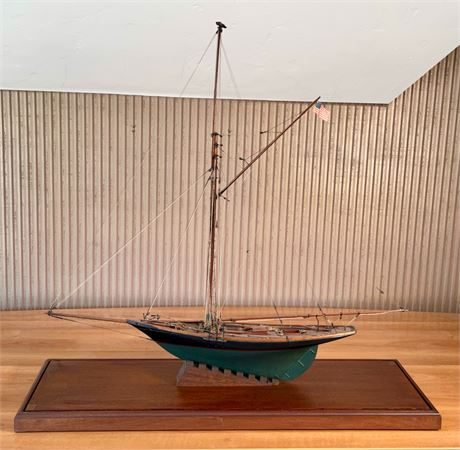 "Signed Cutter Model Ship ""Minerva"""