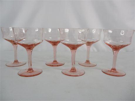 Pink Glass Stemware