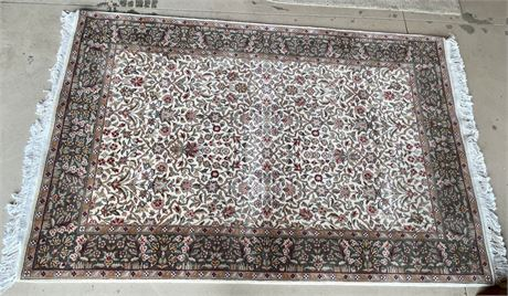 Decorative Cream and Floral Rug