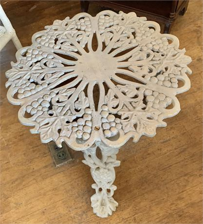 Vintage Heavy Wrought Iron Table