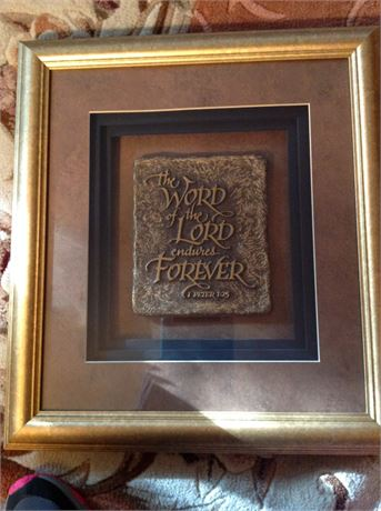 Peter 1:25 Shadow Box Framed Plaque