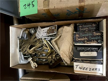 Box of Drapery Hardware