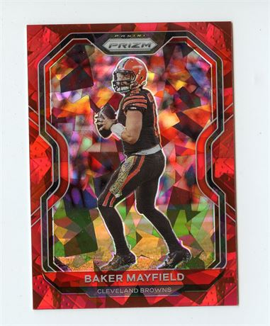 BAKER MAYFIELD 2020 PRIZM RED ICE REFRACTOR #56 CLEVELAND BROWNS HOT