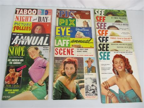 '50s Men's Large Format Magazines