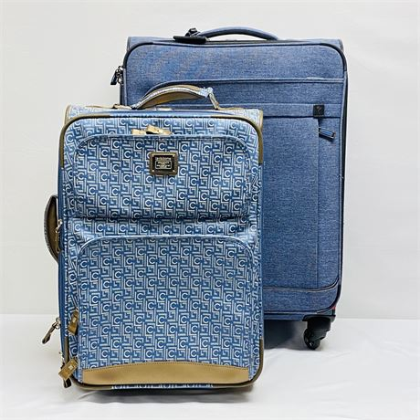 Lot of 2 Rolling Soft Body Suitcases - Liz Claiborne and Ricardo