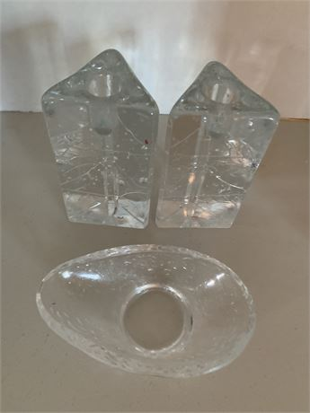 Solid Glass Candle Holders I Finland
