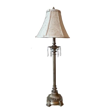 Contemporary Silver and Gold Washed Buffet Lamp