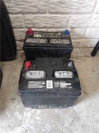 Two used car batterys