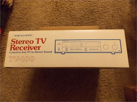 Vintage 1984 Realistic TV-100 Stereo TV Receiver, new in box