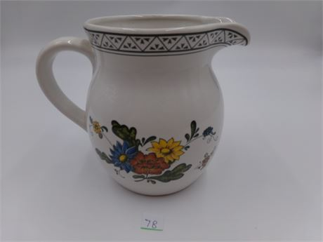 White Floral Pitcher