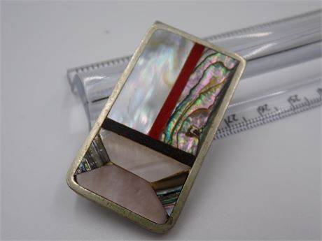 Money Clip with Abalone Shell Detail