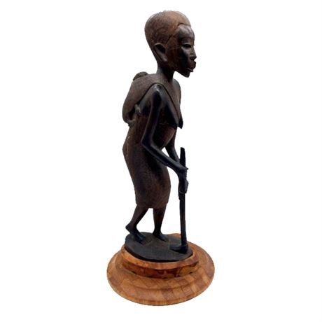 African Carved Female Figure