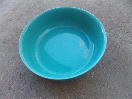 Vintage Nancy Calhoun Dark Aqua stoneware - cereal bowl
