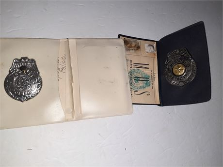 Vintage Toy Police Badges 1940s