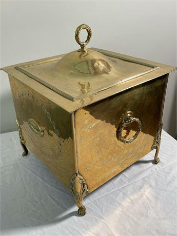 Regency Style Brass Coal Box