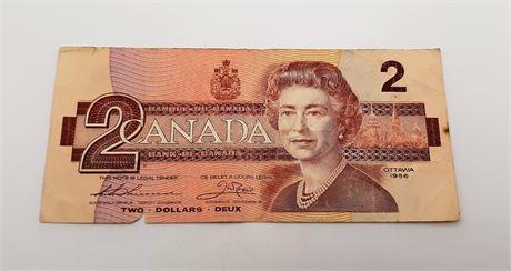 Two Dollar Canadian Bill