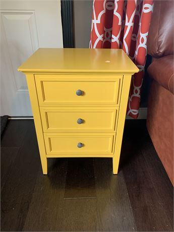 Contemporary Yellow End Table