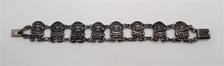 Vintage Sterling Silver 43 Gram Bracelet