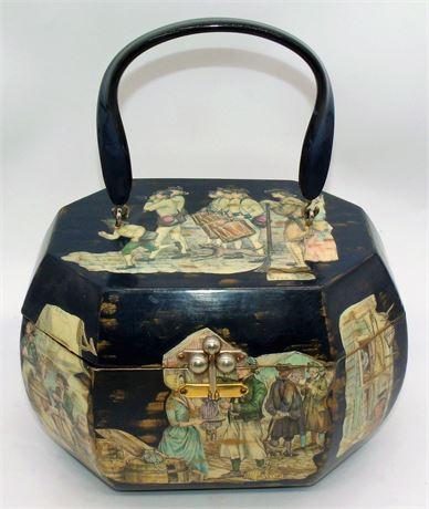 VTG Decoupage box purse