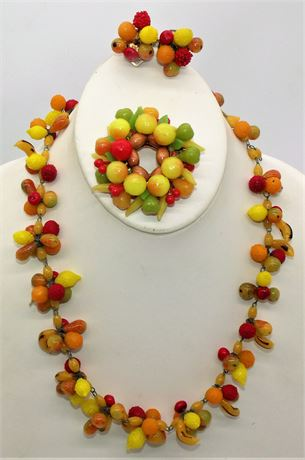 VTG fruit jewelry set