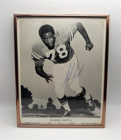 Bubba Smith Baltimore Colts Signed Framed 8x10 Photo