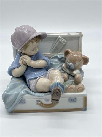 Lladro Boy with Teddy Bear Figurine #6795
