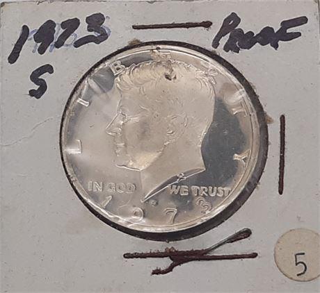 1973 S Proof Kennedy Half Dollar