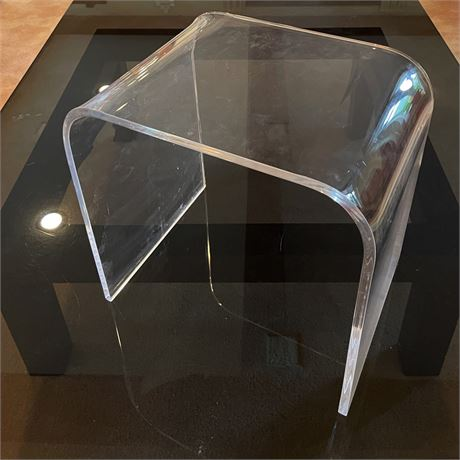 Vintage Lucite Waterfall Style Side Table