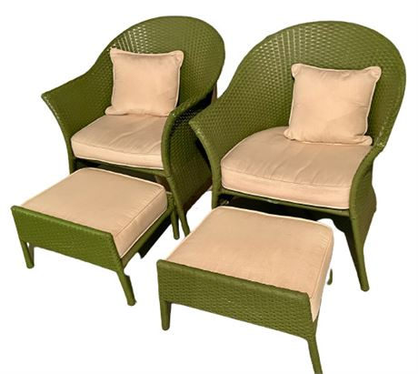 Pair of Smith and Hawkins Outdoor Wicker Chairs