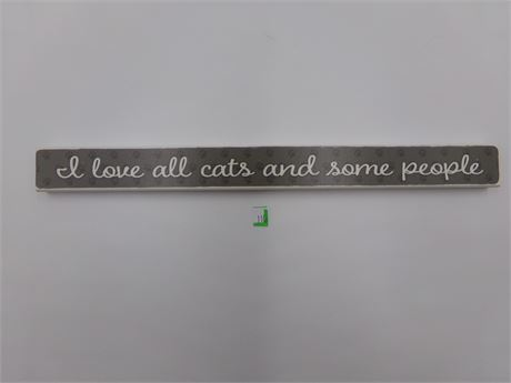 I Love Cats Wooden Sign