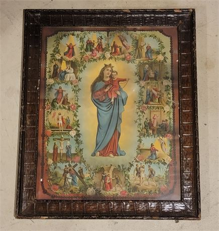 Nice Framed Religious picture
