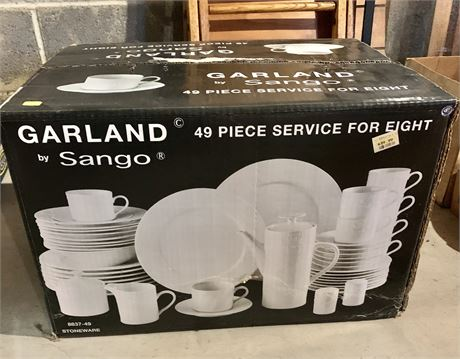 Garland 49 piece dishware set for 8